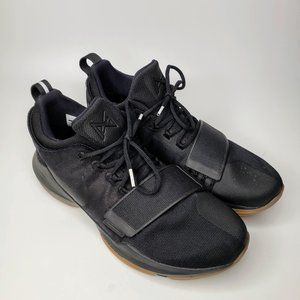 Nike PG 1 Black and Gum Bottom Sports Sneakers 12